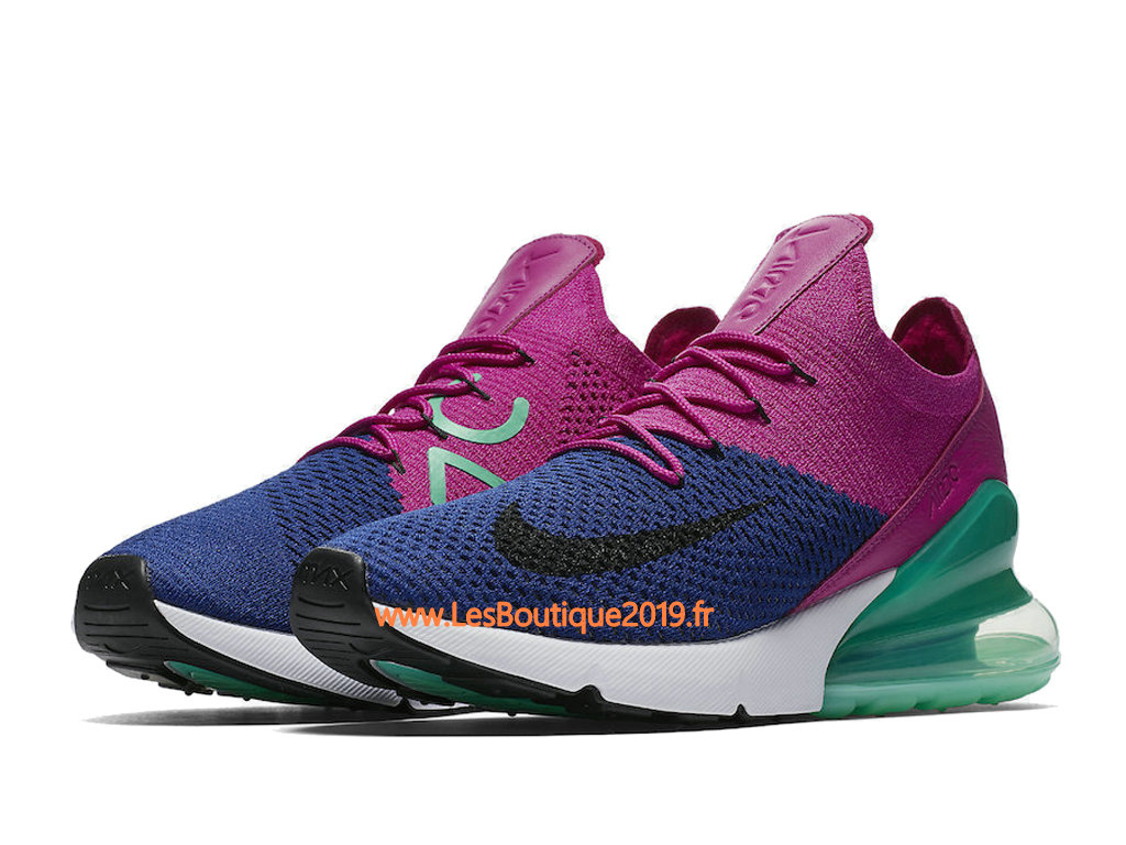 on sale 51991 163ed ... Nike Air Max 270 Flyknit Pink Green Men´s Nike Running Shoes ...