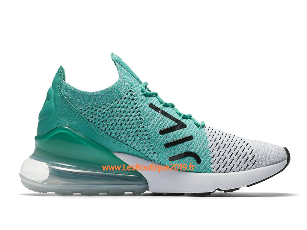Nike Air Max 270 Flyknit Vert Noir Blanc Chaussure Nike Basket Pas Cher Pour Homme AH6803-300