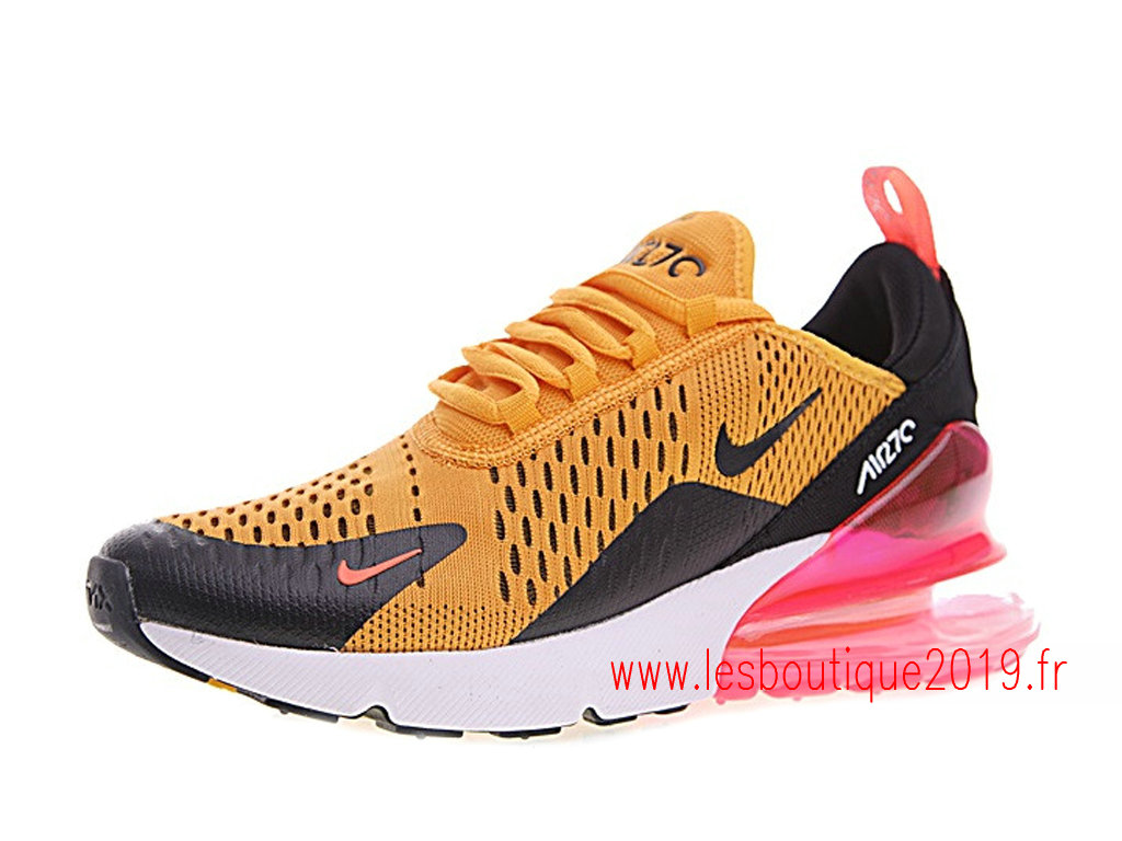 nike air max 270 gs jaune noir chaussures nike running pas. Black Bedroom Furniture Sets. Home Design Ideas