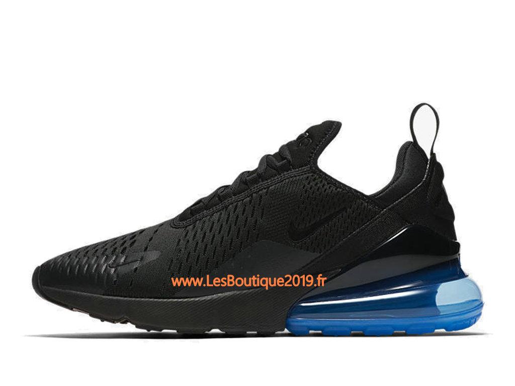 buy popular 25e59 2ad1f ... Nike Air Max 270 Noir Bleu Chaussure Officiel Prix Pas Cher Pour Homme  AH8050-009 ...