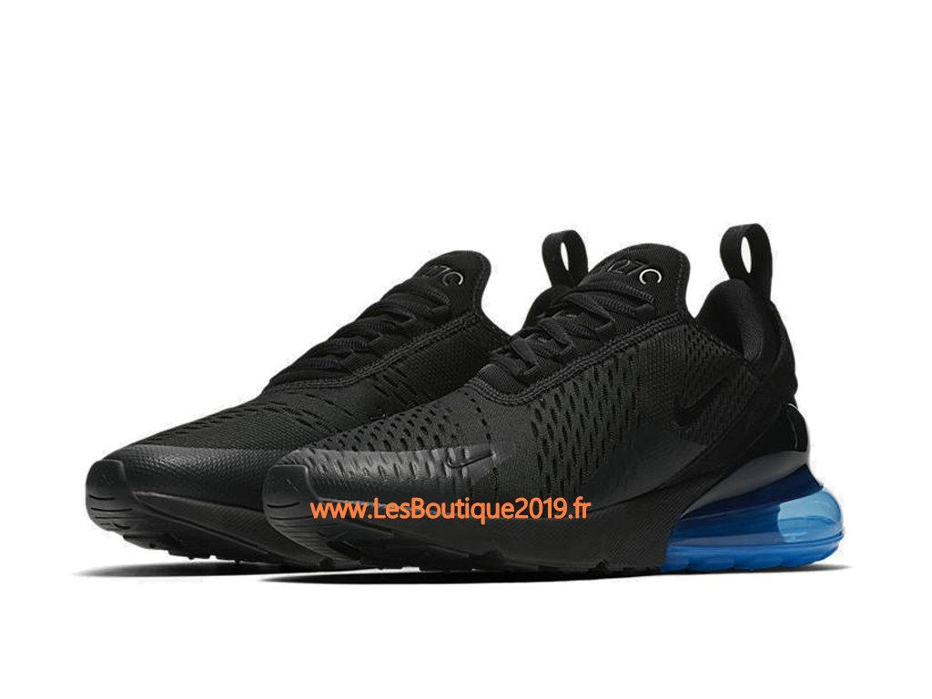f17fe8e08e0b ... Nike Air Max 270 Noir Bleu Chaussure Officiel Prix Pas Cher Pour Homme  AH8050-009 ...