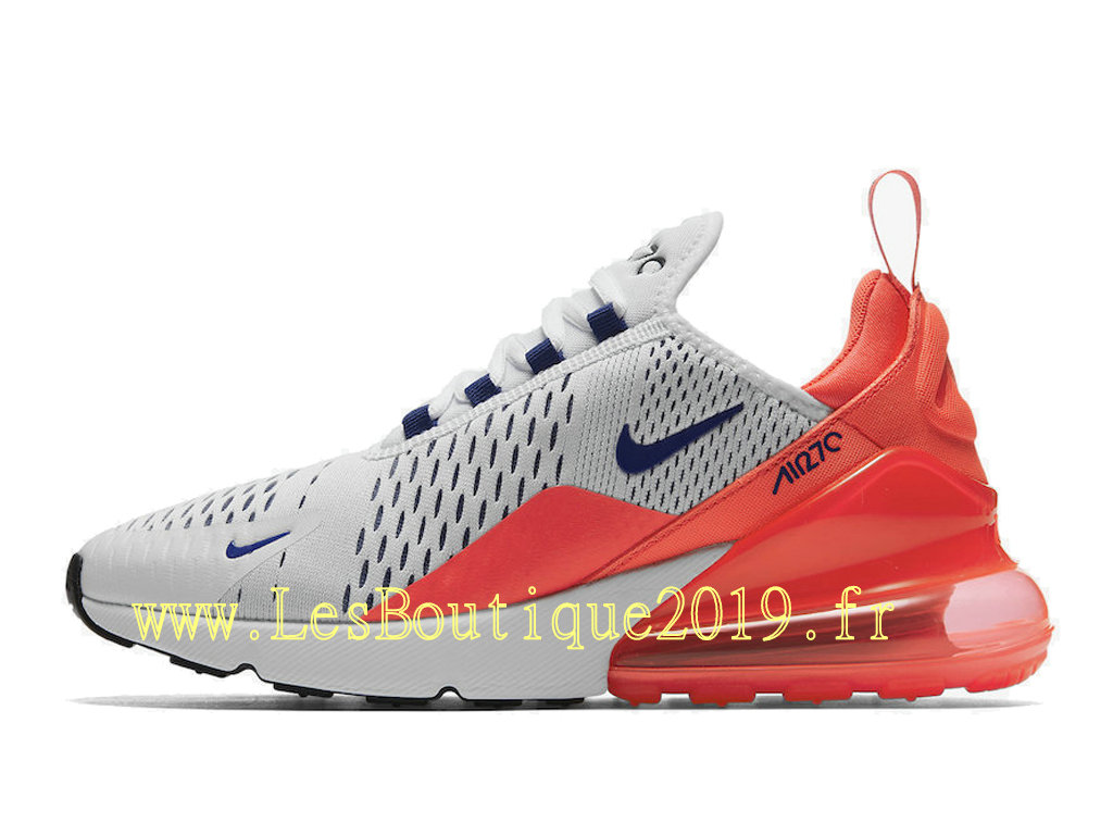 official photos 5b16b 86a6e Nike Air Max 270 Ultramarine Chaussures Officiel 2019 Pas Cher Pour Homme  Blanc Rose AH6789- ...