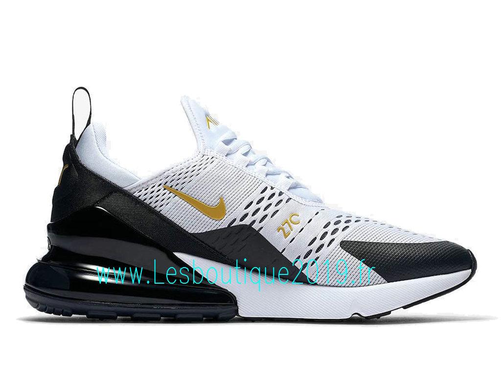 5647fcedee0 ... Nike Air Max 270 White Black Gold Chaussures Officiel 2019 Pas Cher  Pour Homme AV7892- ...