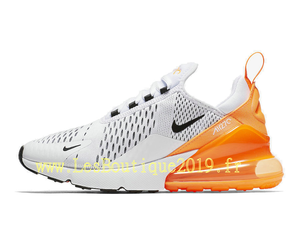 new arrival e8539 5aef7 Nike Air Max 270 White Orange Chaussures Officiel 2019 Pas Cher Pour Homme  AH6789-104 ...