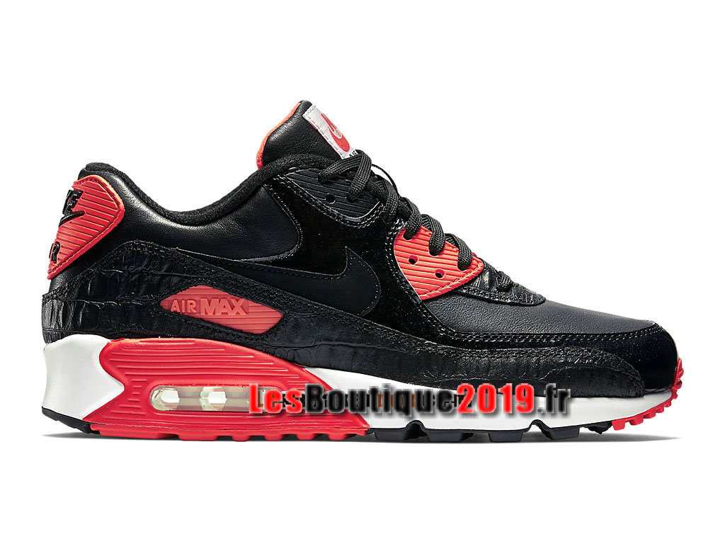 Nike Air Max 90 Anniversary Chaussures Nike Sportswear Pas Cher Pour Homme Noir Rouge 725235-006