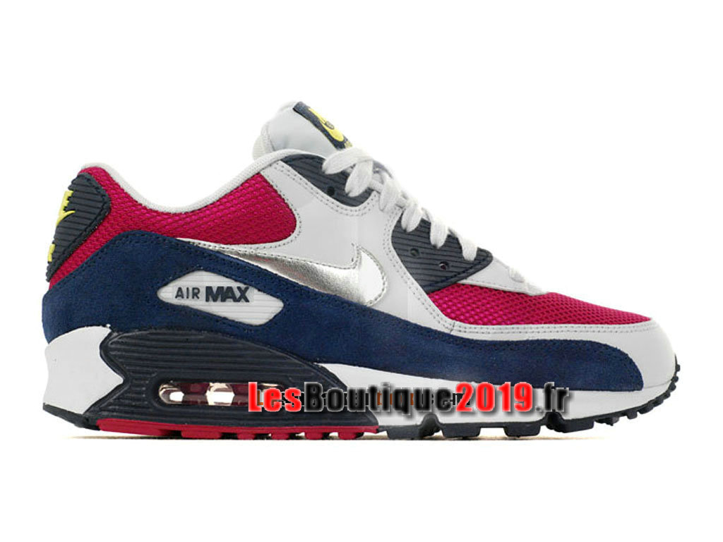 Nike Air Max 90 Chaussures Nike Sportswear Pas Cher Pour Homme Blanc Rouge 325213-606H