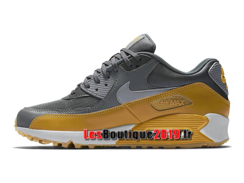 0c830b195eaba ... Nike Air Max 90 Essential Chaussures Nike Prix Pas Cher Pour Homme  Jaune Gris 616730- ...