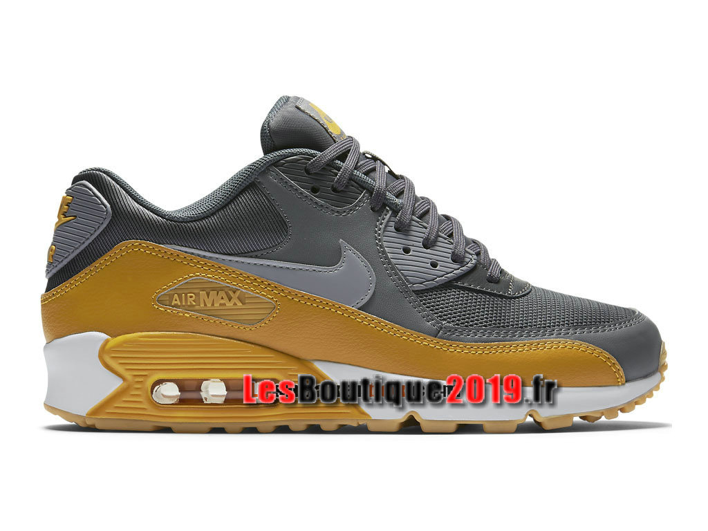 Nike Air Max 90 Essential Chaussures Nike Prix Pas Cher Pour Homme Jaune Gris 616730-027H