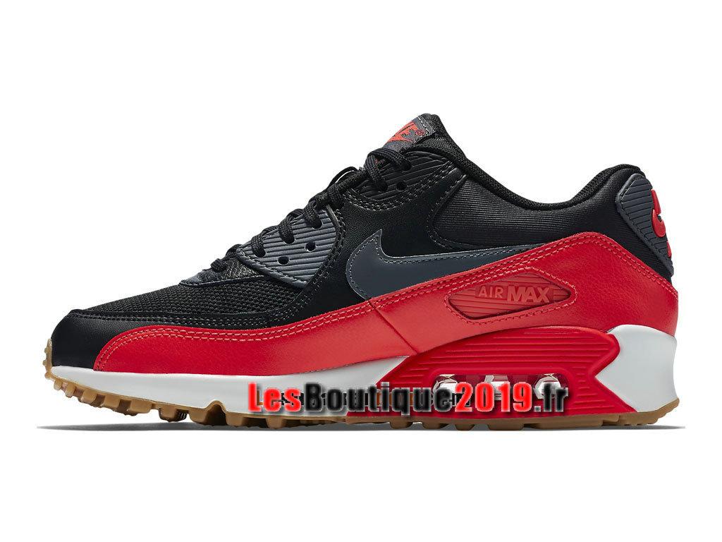 new concept 88de4 a6fa1 ... Nike Air Max 90 Essential Chaussures Nike Prix Pas Cher Pour Homme Noir  Rouge 616730- ...