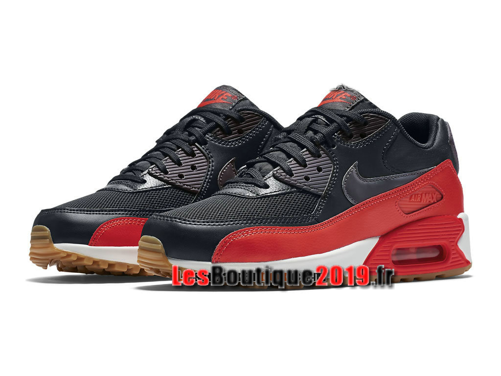 outlet store f7acd b03cc ... Nike Air Max 90 Essential Chaussures Nike Prix Pas Cher Pour Homme Noir  Rouge 616730-