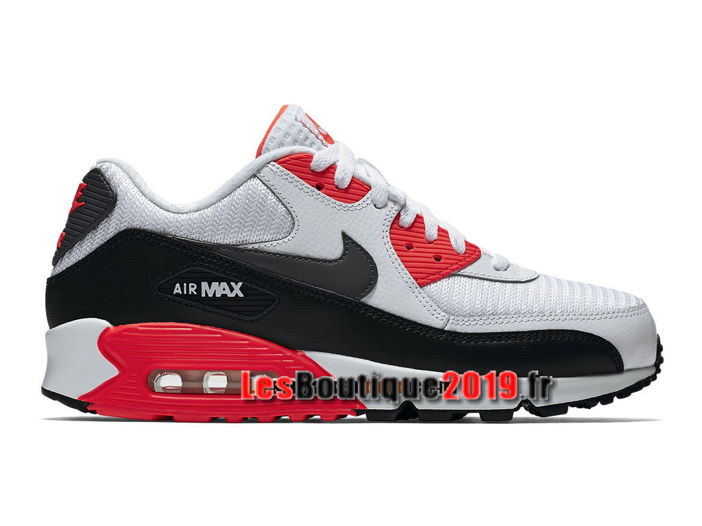 Nike Air Max 90 Essential Chaussures Nike Sportswear Pas Cher Pour Homme Blanc Rouge 537384-126