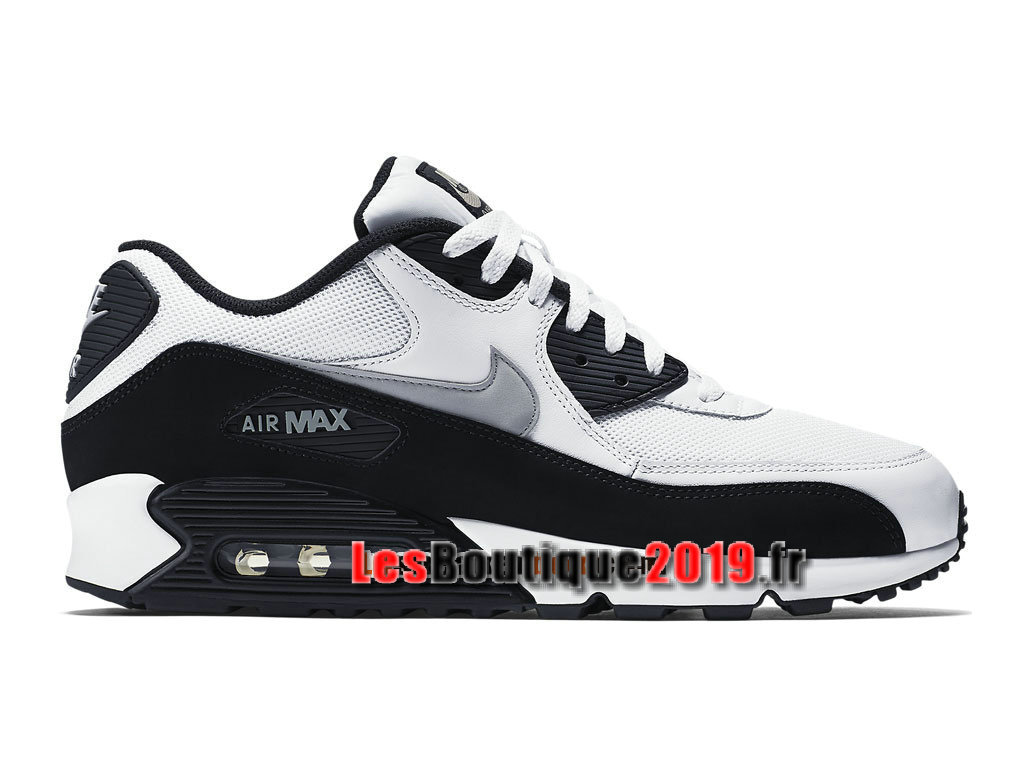 big sale 1068d b0819 Nike Air Max 90 Essential Chaussures Nike Sportswear Pas Cher Pour Homme  Noir Blanc 537384- ...