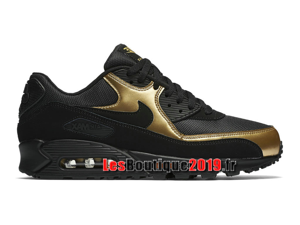 Nike Air Max 90 Essential Chaussures Nike Sportswear Pas Cher Pour Homme Noir Or 537384-058