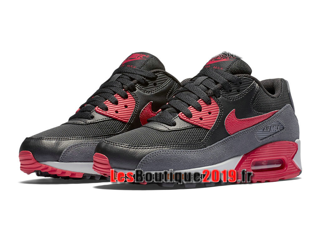 Nike Air Max 90 Essential Chaussures Nike Sportswear Pas Cher Pour Homme Noir Rouge 616730-020H