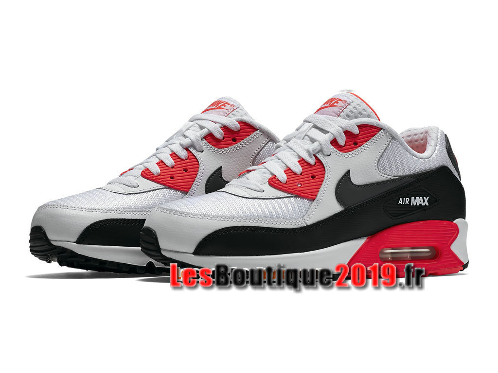 Nike Air Max 90 Essential GS Blanc Rouge Chaussures Nike Running Pas Cher Pour Femme/Enfant 537384-126G
