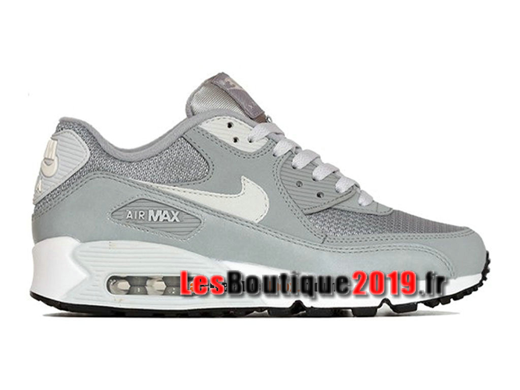 sports shoes 3d7e8 31a03 Nike Air Max 90 Essential GS Gris Blanc Chaussures Nike Running Pas Cher  Pour Femme  ...