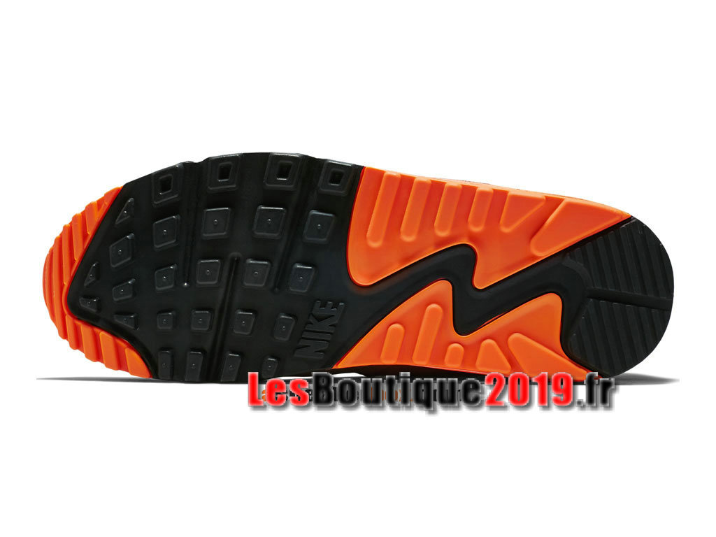 buy popular 04e3b 9cb1b ... Nike Air Max 90 Essential GS Gris Orange Chaussures Nike Prix Pas Cher  Pour Femme