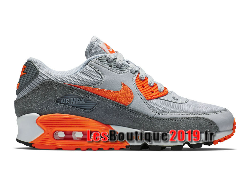 newest collection d800e 22789 Nike Air Max 90 Essential GS Gris Orange Chaussures Nike Prix Pas Cher Pour  Femme  ...