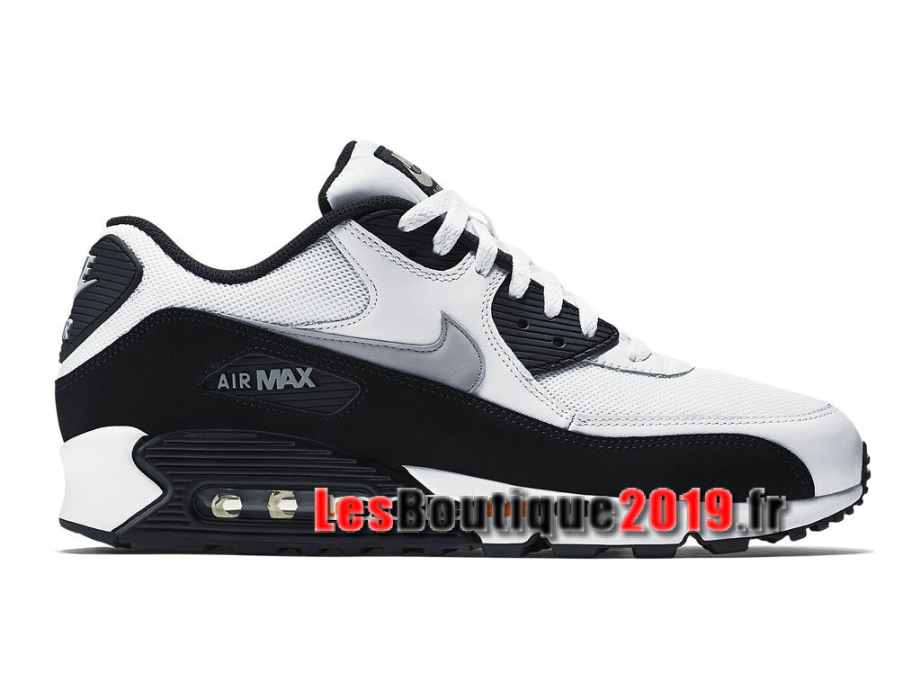 outlet store c3d82 4fdf5 Nike Air Max 90 Essential GS Noir Blanc Chaussures Nike Running Pas Cher  Pour Femme/ ...