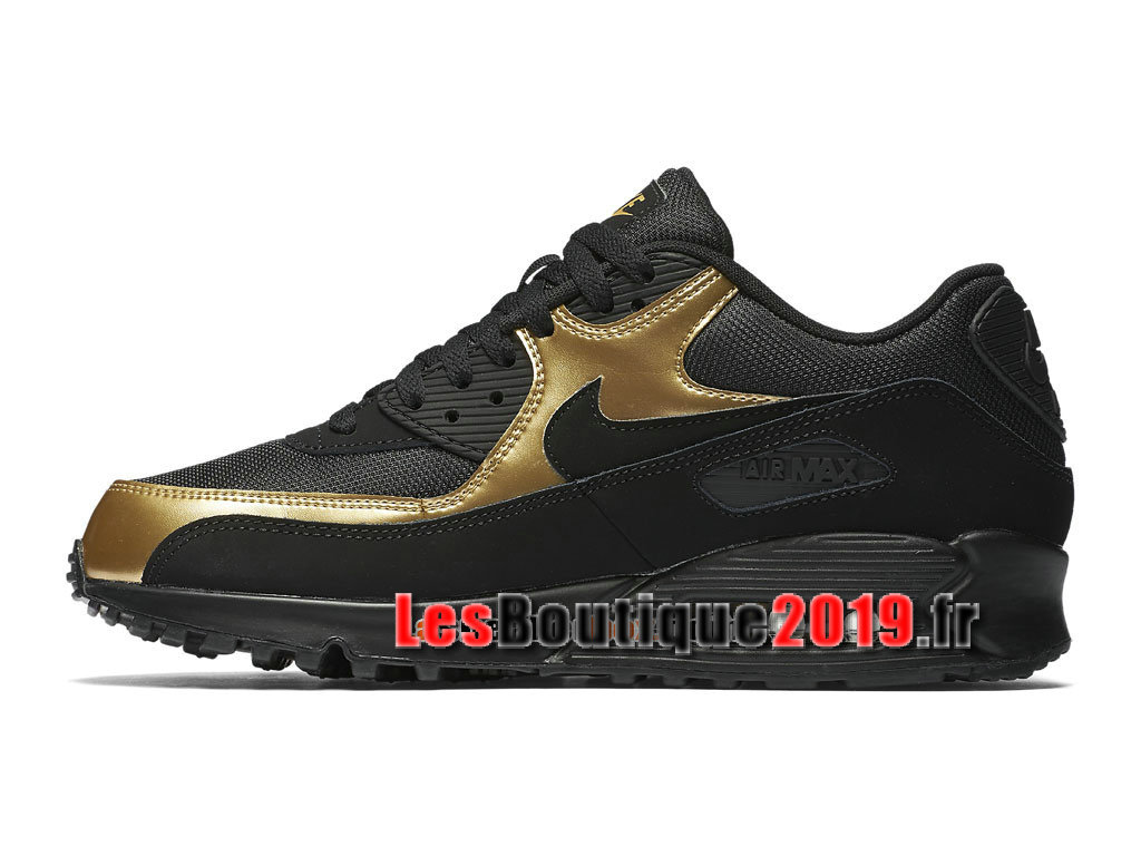 new style 212a7 c6518 ... Nike Air Max 90 Essential GS Black Gold Women´s Kids´s Nike ...