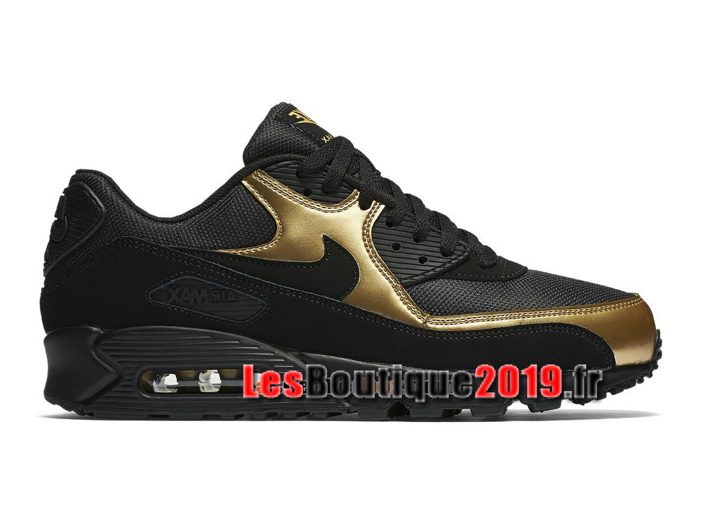 new product e4ab8 6b533 Nike Air Max 90 Essential GS Black Gold Women´s Kids´s Nike