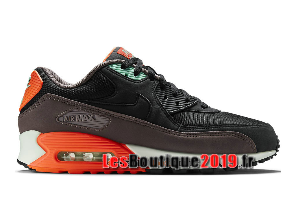 pretty nice a0add 55dcc Nike Air Max 90 Essential GS Noir Orange Chaussures Nike Running Pas Cher  Pour Femme  ...
