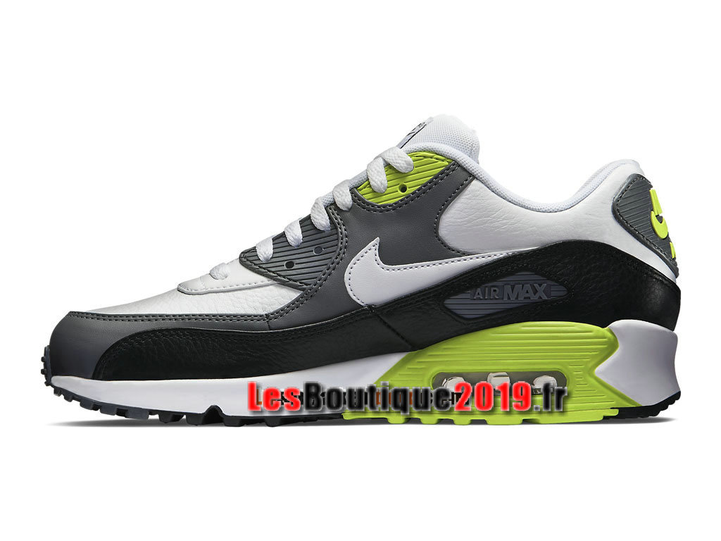 new style f40c3 6db82 ... Nike Air Max 90 Leather (LTR) Men´s Nike Sportswear Shoes White Green  ...