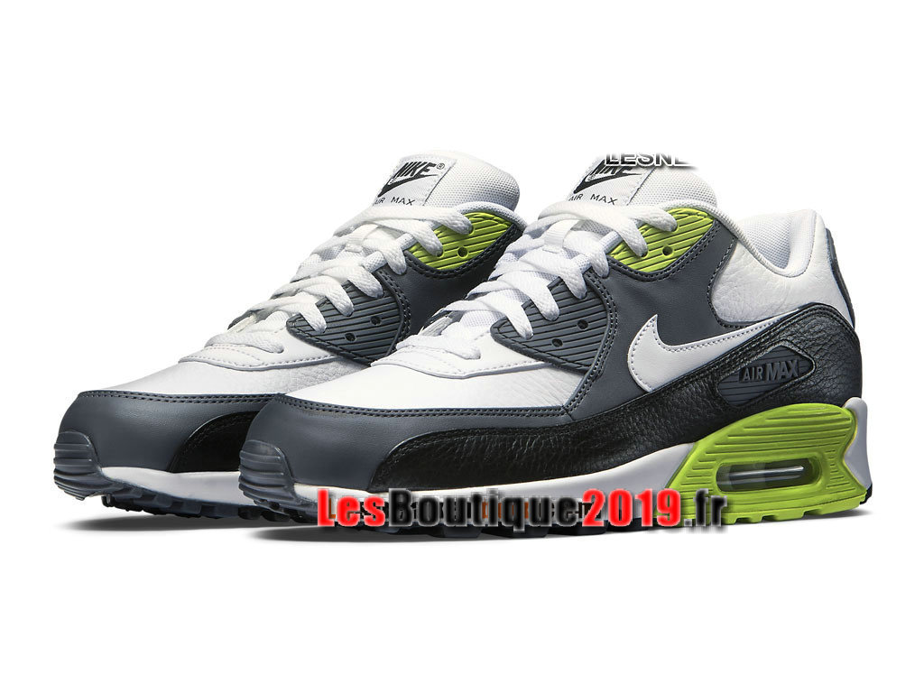 Nike Air Max 90 Leather (LTR) Chaussures Nike Sportswear Pas Cher Pour Homme Blanc Vert 652980-103
