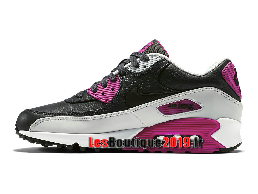 Nike Air Max 90 Leather (LTR) Chaussures Nike Sportswear Pas Cher Pour Homme Noir Rose 652980-005