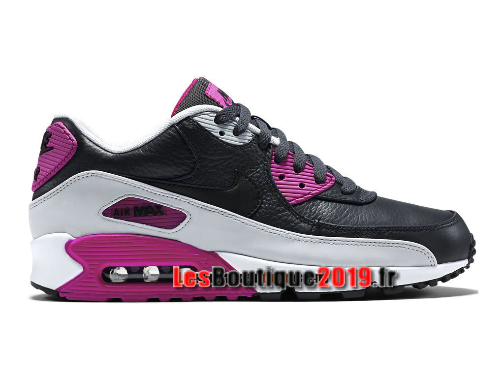 big sale 71e88 87a52 Nike Air Max 90 Leather (LTR) Men´s Nike Sportswear Shoes Black Pink ...