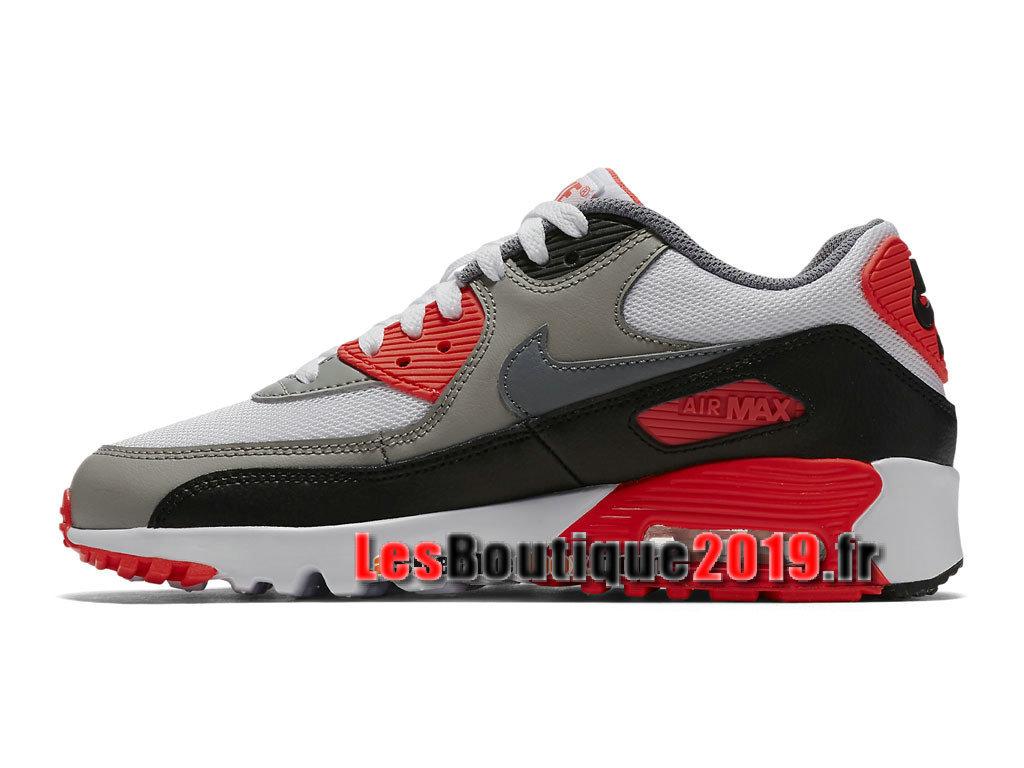 Nike Air Max 90 Mesh GS Rouge Blanc Chaussures Nike Basket