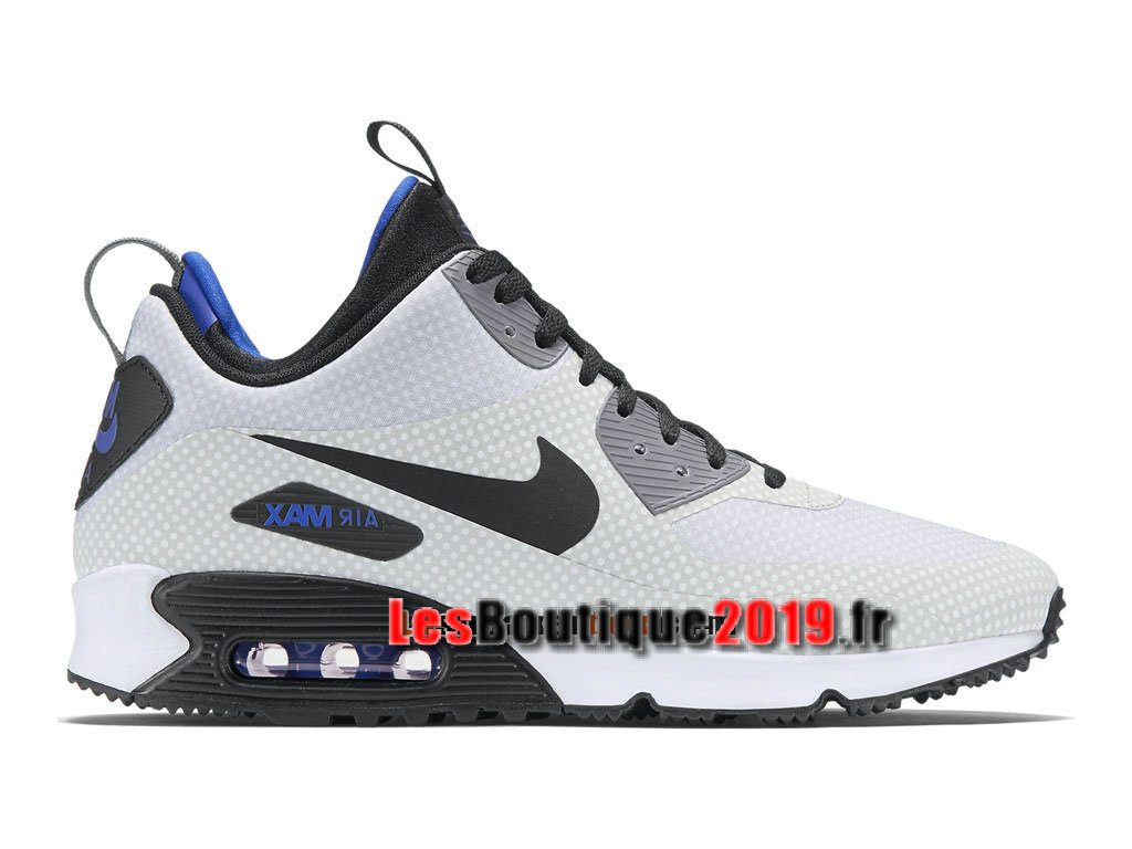 Nike Air Max 90 Mid Winter Chaussures Nike Running Pas Cher Pour Homme Blanc Noir 806850-001
