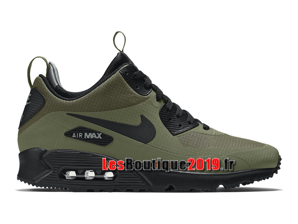 Nike Air Max 90 Mid Winter Chaussures Nike Running Pas Cher Pour Homme Brun Noir 806808 ...