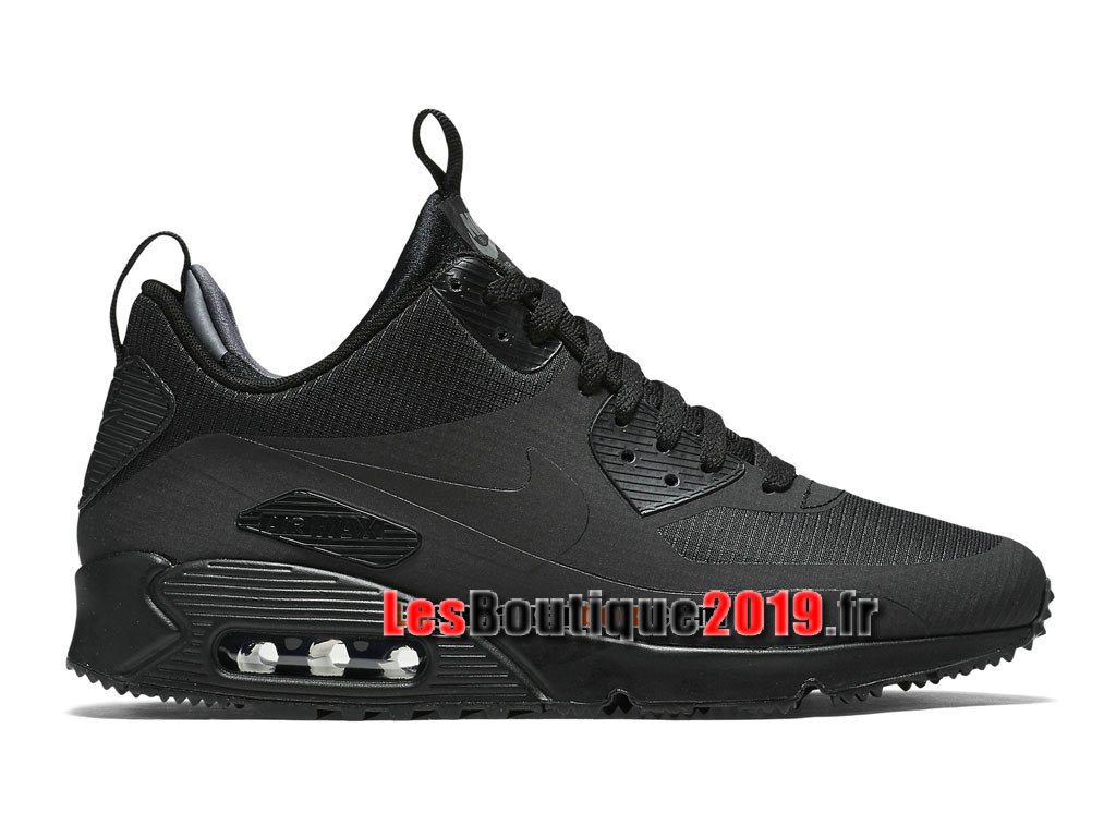 Nike Air Max 90 Mid Winter Chaussures Nike Running Pas Cher Pour Homme Noir 806808-002
