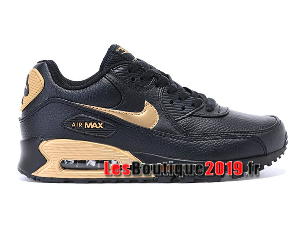 quality design 6656f e8290 Nike Air Max 90 Premium QS (GS) Noir Or Chaussures Nike Running Pas Cher ...