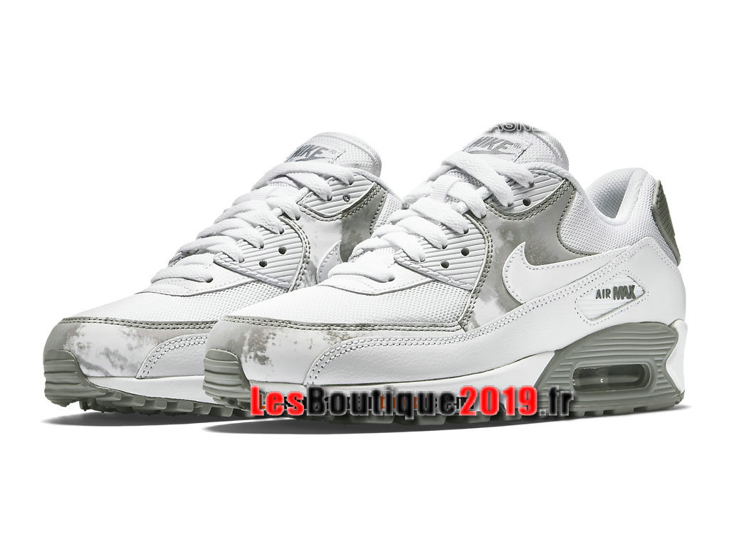 check out 69d58 734cc ... Nike Air Max 90 Print Men´s Nike Sportswear Shoes White Gery 724980-100H
