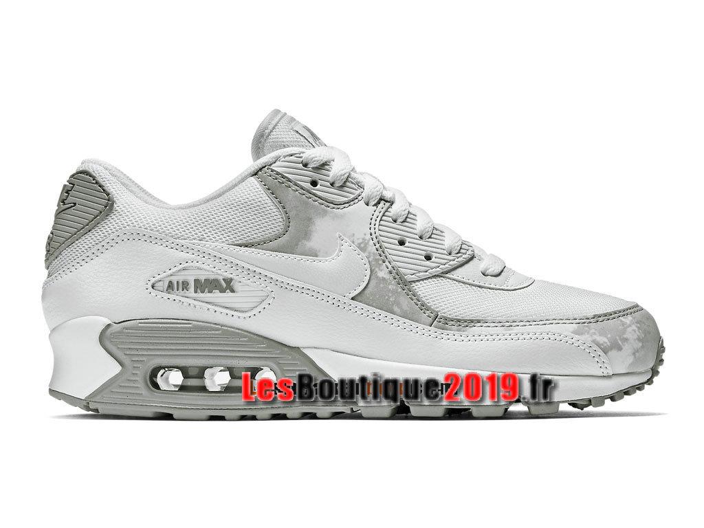 brand new 65e8d 0a636 Nike Air Max 90 Print Chaussures Nike Sportswear Pas Cher Pour Homme Blanc  Gris 724980- ...