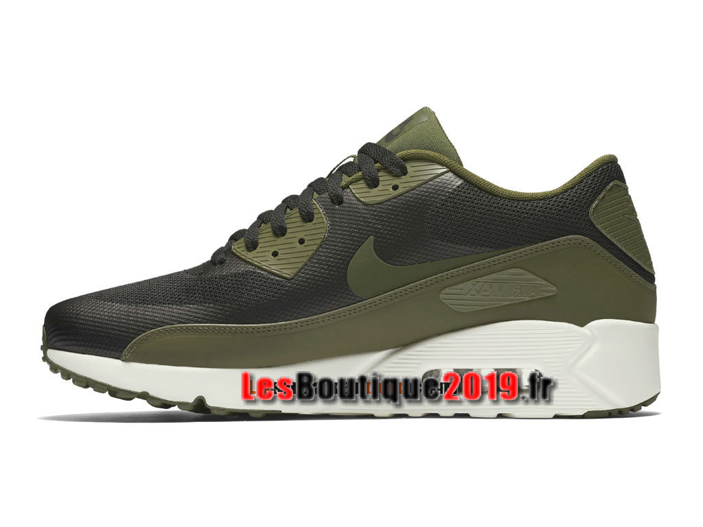 Nike Air Max 90 Ultra Essential Chaussures Nike Sportswear Pas Cher Pour Homme Vert Blanc 875695-004