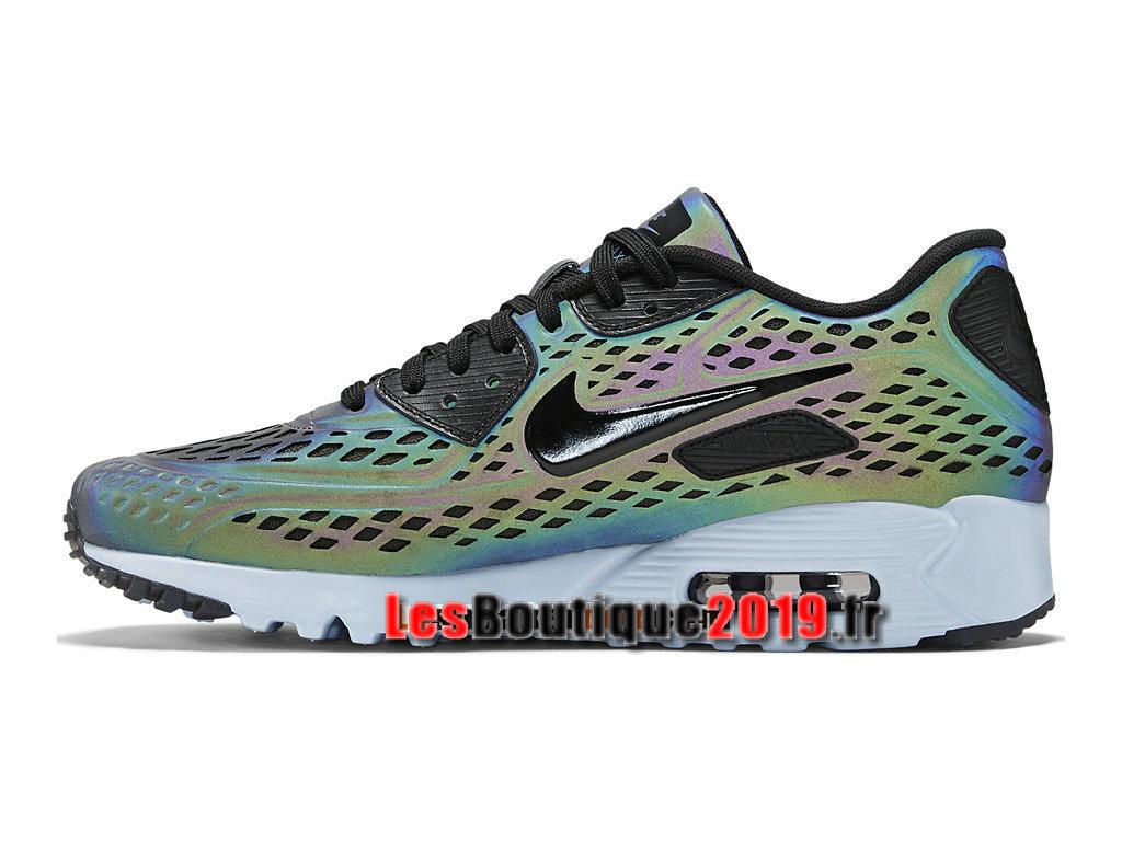super popular 75a1e aa8a5 ... Nike Air Max 90 Ultra Moire Chaussures Nike Sportswear Pas Cher Pour  Homme Bleu Noir 777427 ...