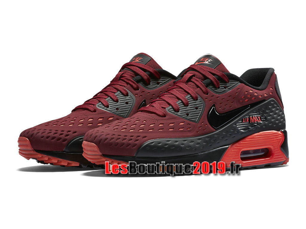 Nike Air Max 90 Ultra Moire Chaussures Nike Sportswear Pas Cher Pour Homme Rouge Noir 725222-600
