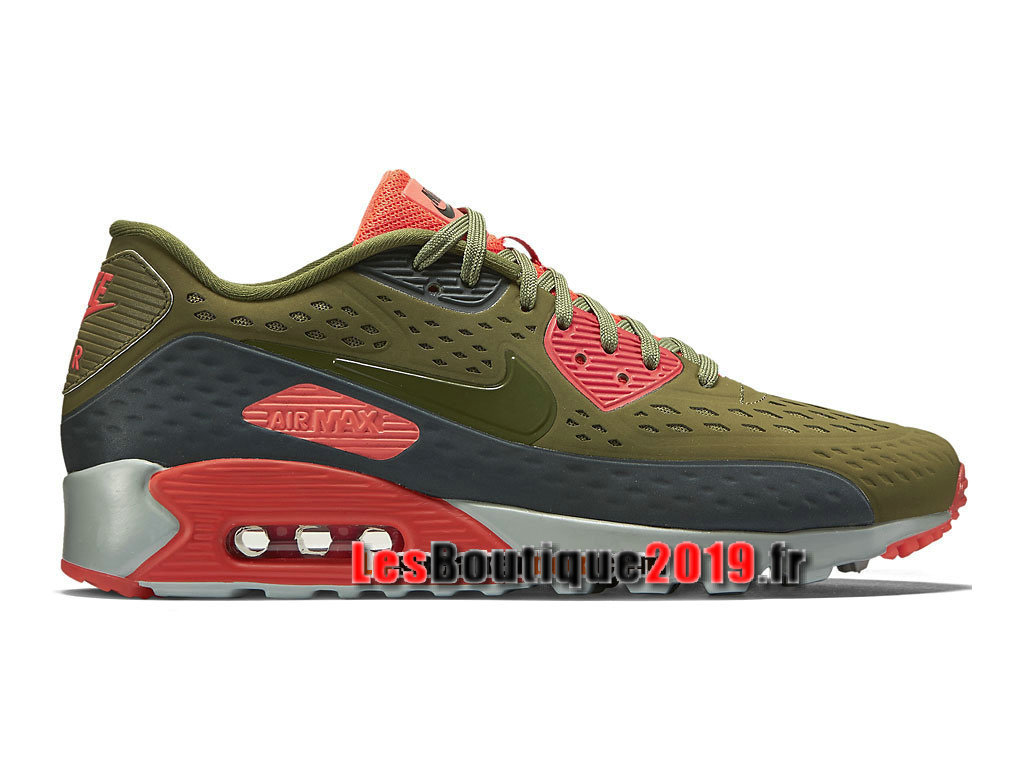 Nike Air Max 90 Ultra Moire Chaussures Nike Sportswear Pas Cher Pour Homme Vert Rouge 725222-300