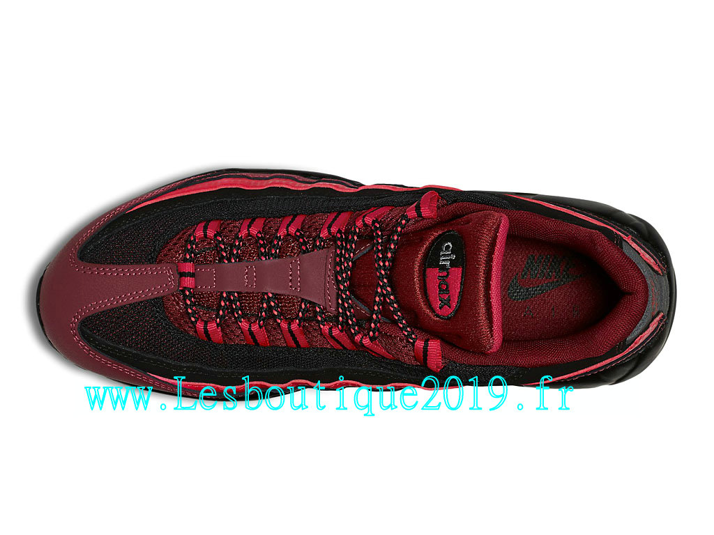 Nike Air Max 95 Chaussures Officiel Running Pas Cher Pour Homme Rouge Noir 749766_600