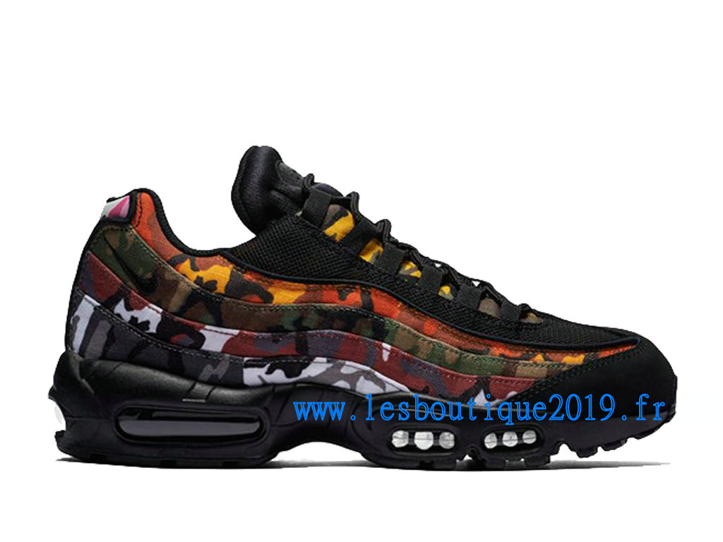 Chaussures Nike air max 95 Homme Pas cher Gris et Orange