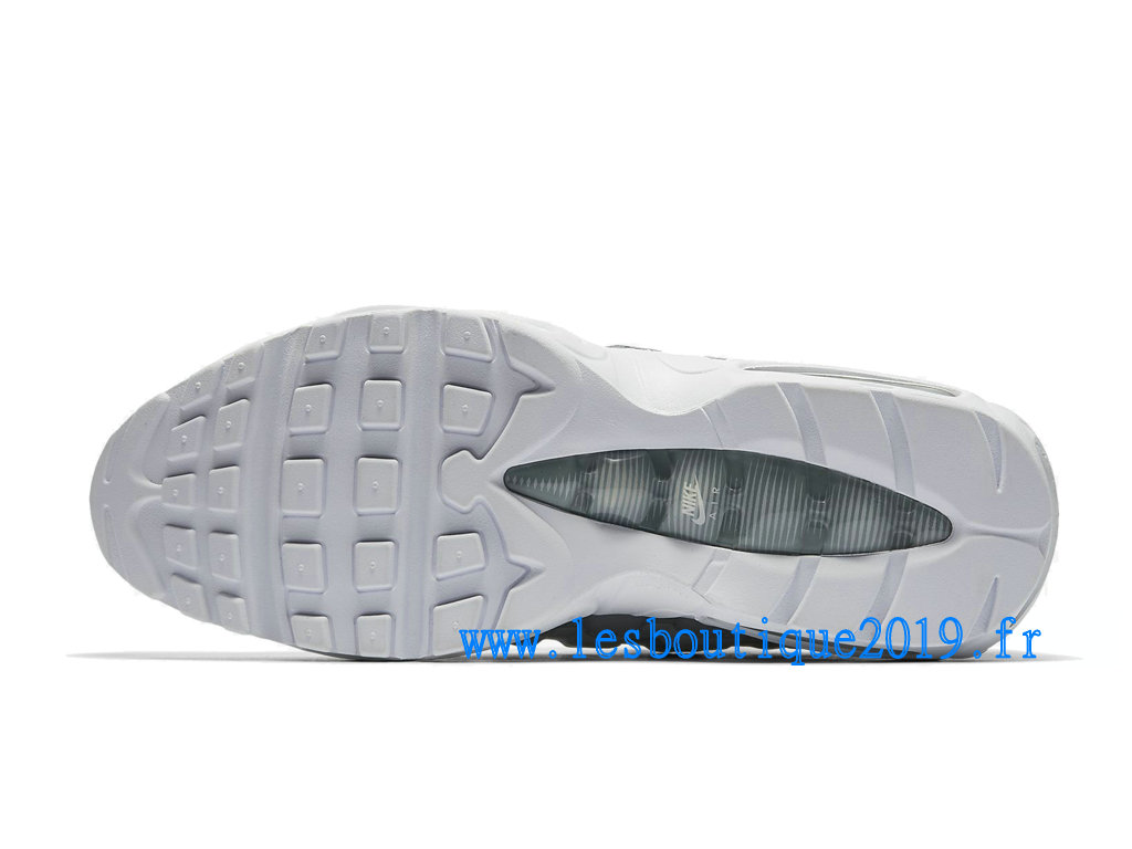 lower price with e6fc5 20348 ... Nike Air Max 95 Essential Gris Blanc Chaussures Nike Sportswear Pas  Cher Pour Homme 749766- ...
