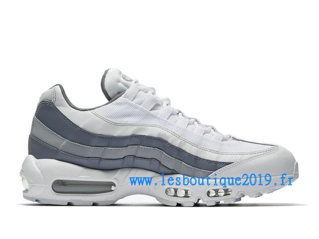 4592ec84280 ... Nike Air Max 95 Essential Gris Blanc Chaussures Nike Sportswear Pas Cher  Pour Homme 749766- ...