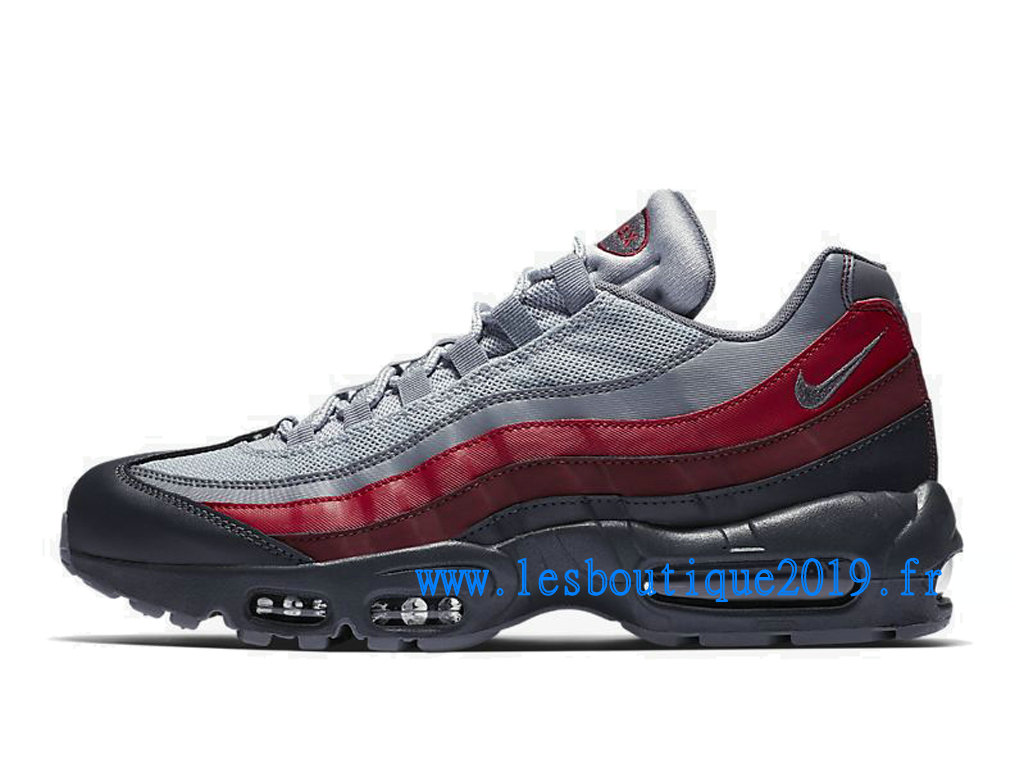 outlet store 1ceb4 d5e0d ... Nike Air Max 95 Essential Noir Rouge Chaussures Nike Sportswear Pas  Cher Pour Homme 749766- ...