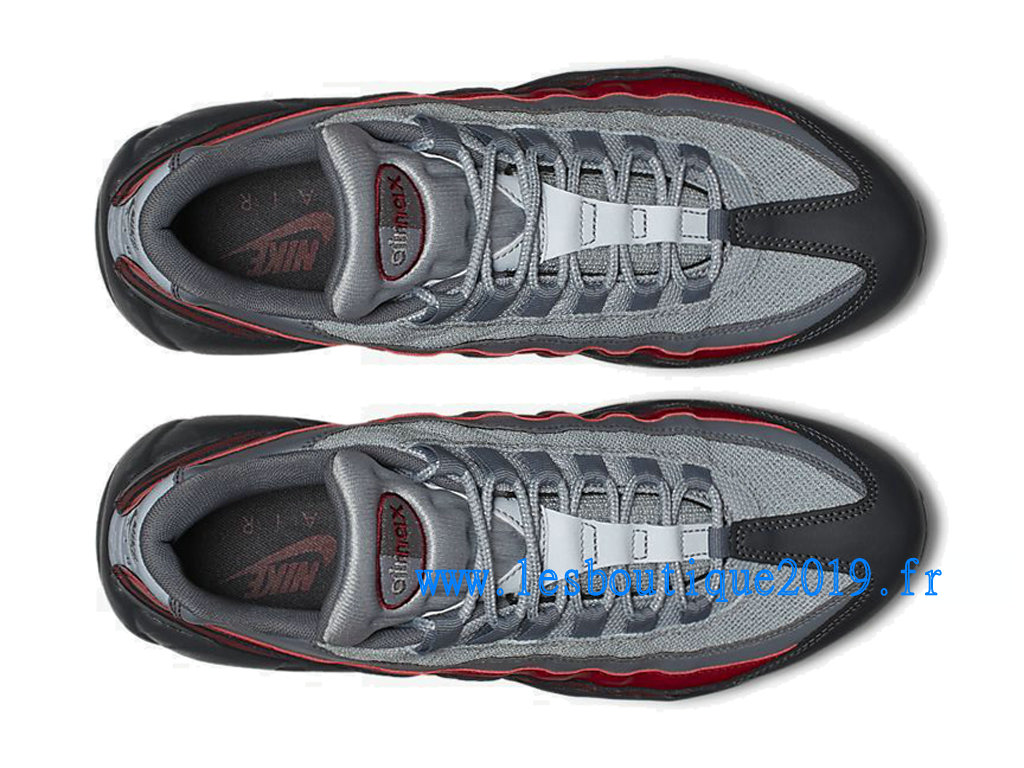 Nike Air Max 95 Essential Noir Rouge Chaussures Nike Sportswear Pas Cher Pour Homme 749766-025