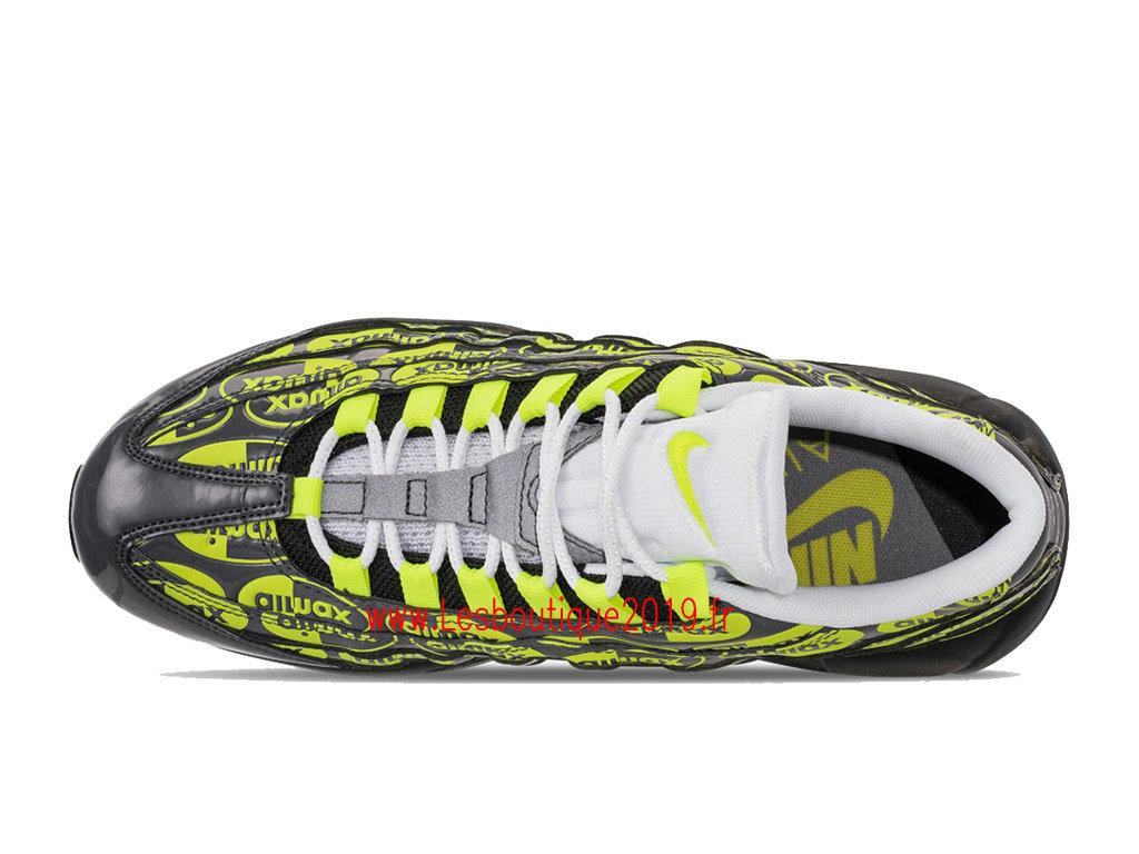huge selection of 082ae 1fec5 ... Nike Air Max 95 Premium Vert Noir Chaussures Officiel Running Prix Pas  Cher Pour Homme 538416