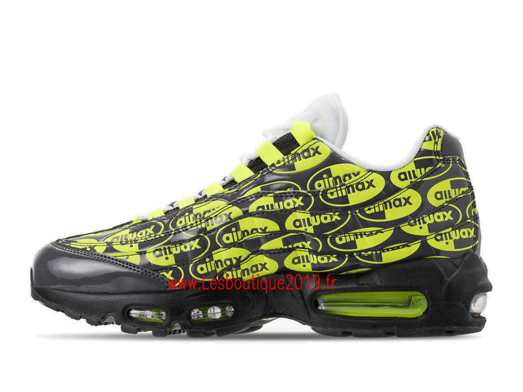 the best attitude 0f4bf 28260 Nike Air Max 95 Premium Green Black Men´s Officiel Running Prix Shoes  538416- ...