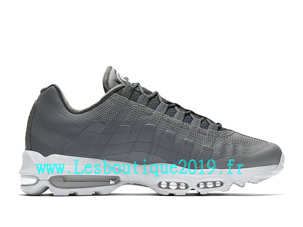 hot sale online 0b869 d92ff ... Nike Air Max 95 Ultra Essential Chaussures Officiel Running Pas Cher  Pour Homme Gris Blanc 857910_007 ...